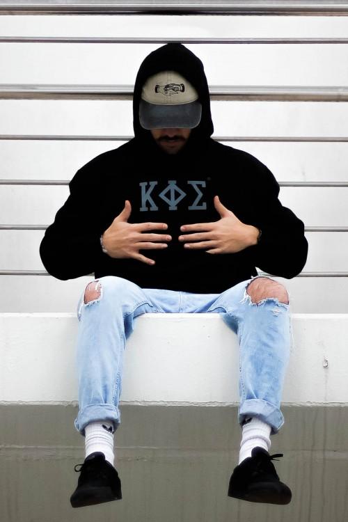 Sudadera de capucha Negra Hombre - KAPHISI